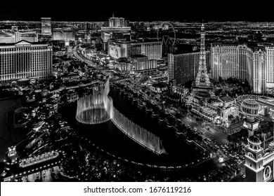 Las Vegas Nevada 2018 12 13 panoramic view of the Las Vegas Strip