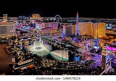 Las Vegas Nevada 2019 02 07 panoramic view of the Las Vegas Strip
