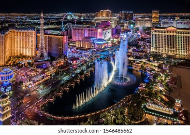 Las Vegas Nevada 2019 10 31 panoramic view of the Las Vegas Strip