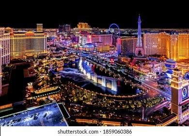 Las Vegas Nevada 2020 01 05 panoramic view of the Las Vegas Strip