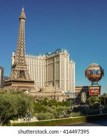 Las Vegas, Nevada - 3 October 2014: Paris Hotel and Casino in Las Vegas.