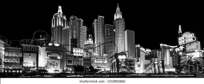 LAS VEGAS, NEVADA -  APRIL 10, 2011: New York-New York Hotel on April 10, 2011 in Las Vegas. Its owner - MGM Resorts reported strong net revenue gain of 43% to $2.23 billion in third quarter 2011