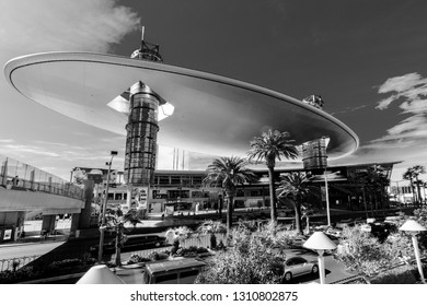 LAS VEGAS, NEVADA - APRIL 11, 2011: Fashion Show Mall placed at Strip on April 11, 2011 in Las Vegas, Nevada. One of the largest malls in the world with more than 250 stores