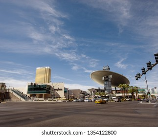 LAS VEGAS, NEVADA - APRIL 11, 2011: Trump International hotel tower and Fashion Show Mall located at Strip on April 11, 2011 in Las Vegas, Nevada.