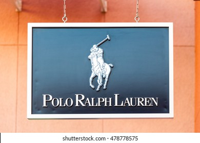 LAS VEGAS, NEVADA - August 22nd, 2016: Polo Ralph Lauren Logo On Store Front Sign.