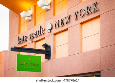 LAS VEGAS, NEVADA - August 22nd, 2016: Kate Spade New York Logo On Store Front Sign.