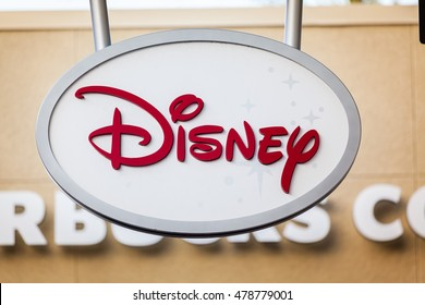 LAS VEGAS, NEVADA - August 22nd, 2016: Disney Store Logo On Store Front Sign.