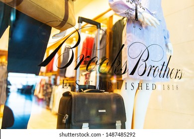 Las Vegas, Nevada - August 23, 2019: Brooks Brothers logo on sign at McCarran airport in Las Vegas, Nevada