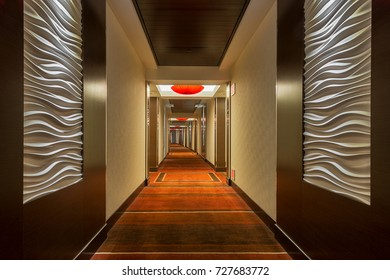 LAS VEGAS, NEVADA - AUGUST 5: Corridor of the Red Rock Casino, Resort & Spa on August 5, 2017 in Las Vegas, Nevada