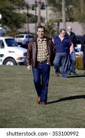 LAS VEGAS, NEVADA, DECEMBER 17, 2015: Republican Presidential candidate Sen. Ted Cruz, R-Texas, walking towards Presidential rally at Siena Community Ballroom, Las Vegas, NV