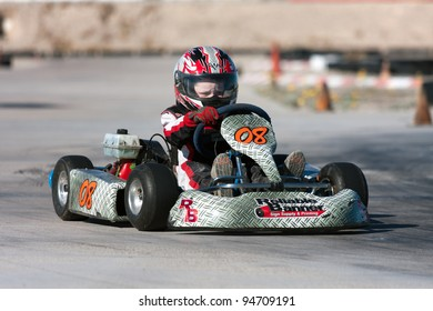 LAS VEGAS, NEVADA - FEBRUARY 4: Dezel West competes at the Junior Go Kart race at the Las Vegas Speedway on February 04, 2012 in Las Vegas, Nevada.