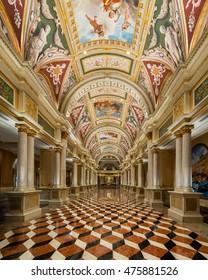 LAS VEGAS, NEVADA - JULY 21: Entrance Hall of the Venetian Hotel on Las Vegas Blvd on July 21, 2016 in Las Vegas, Nevada