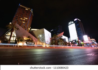 Las Vegas, Nevada- July 25, 2017: Night view from Aria Resort and Casino in Las Vegas on July 25, 2017.