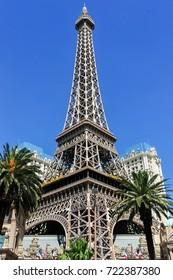 Las Vegas, Nevada - June 22, 2008: Replica Eiffel Tower in Las Vegas, Nevada