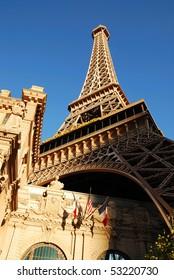 LAS VEGAS, NEVADA - MARCH  3,  Eiffel Tower Hotel on the strip, March 3, 2010 in Las Vegas, Nevada.