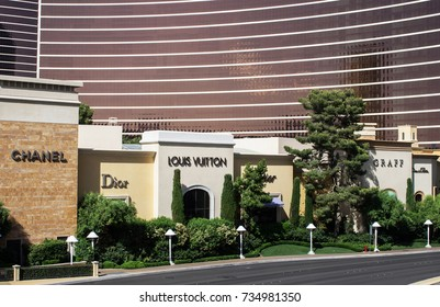 LAS VEGAS, NEVADA - MAY 16, 2012: Upscale stores located at the Encore and Wynn Resorts.