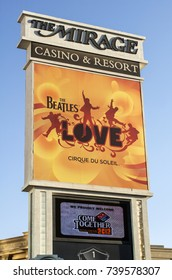 LAS VEGAS, NEVADA - MAY 16, 2012: Entrance sign to the Mirage Casino and Resort located on the Las Vegas Strip.