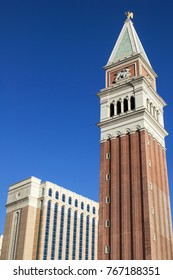 LAS VEGAS, NEVADA - MAY 16, 2012: Upward view of The Venetian a luxury hotel and casino located on the Las Vegas Strip.