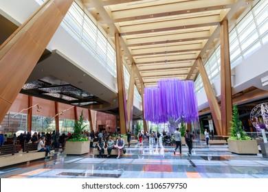 Las Vegas, Nevada - May 28, 2018 : The Aria Resort and Casino in Las Vegas city in Nevada