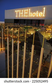 LAS VEGAS, NEVADA, - MAY 29. 2008: The Mandalay Bay Resort and Casino in Las Vegas, famous for its gold colored exterior of the building.