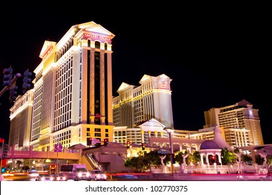 LAS VEGAS, NEVADA - MAY 7:  Caesar's Palace on the Vegas Strip in Las Vegas, Nevada on May 7, 2012.  This world class hotel opened in 1966,  continues to expand and currently has six towers.