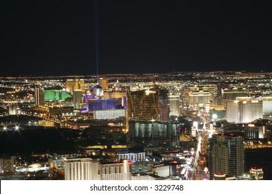 Las Vegas, Nevada at night.
