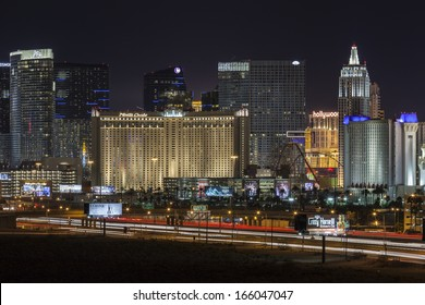 LAS VEGAS, NEVADA - November 29:  Interstate 15 traffic and resorts on the strip.  Vegas has 149,820 hotel rooms with a average daily rate of $115 on November 29, 2013 in Las Vegas, Nevada.