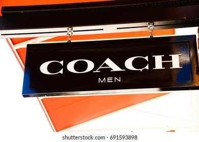 LAS VEGAS, NEVADA - October 11, 2016: COACH Logo On Store Front Sign in the famous Premium outlet North at Las Vegas,NV.