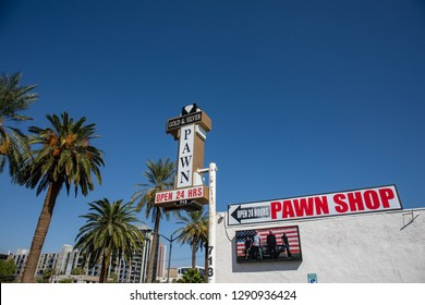 LAS VEGAS, NEVADA - OCTOBER 12, 2017 - The famous Gold & Silver Pawn Shop known from the TV show Pawn Stars on Las Vegas Boulevard - Bilde