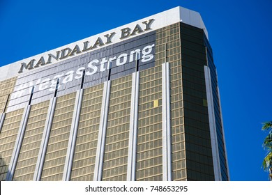 LAS VEGAS, NEVADA - OCTOBER 15, 2017 - The Mandalay Bay after the mass shooting in Las Vegas on October 1st, 2017.