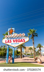 LAS VEGAS, NEVADA - SEPTEMBER 8: Views of the Welcome to Fabulous Vegas sign at the main boulevard on September 8, 2015. This sign is popular by tourist for taking pictures.