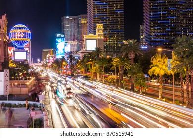 LAS VEGAS, NEVADA - SEPTEMBER 9: Exterior views of the Paris Casino Resort on the Las Vegas Strip on September 9, 2015. The Paris Casino Resort is a famous and popular luxury casino in Vegas.
