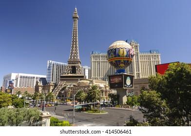 LAS VEGAS, NEVADA - SEPTEMBER 9: Paris Las Vegas Hotel and Casino on the strip on September 9, 2010.