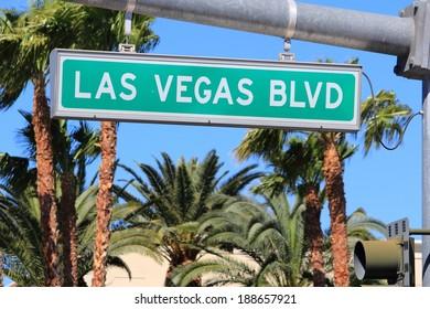 Las Vegas, Nevada, United States. Famous Las Vegas Boulevard (the Strip).