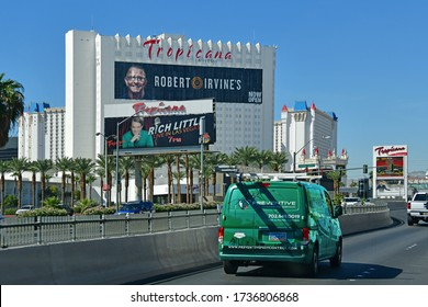 Las Vegas Nevada, USA 09-27-18 Side view of the famous Tropicana hotel taken from E Tropicana Ave
