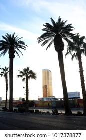 Las Vegas, Nevada / USA - 10/16/2017: The Trump Hotel on the Vegas Strip.