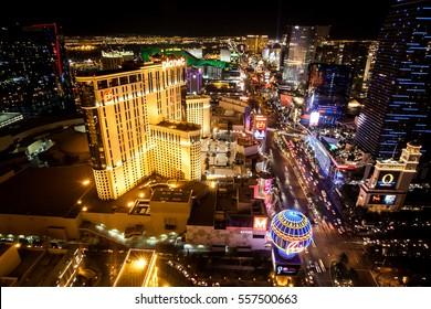 Las Vegas, Nevada, USA 2012.01.11 Las Vegas main street at night.