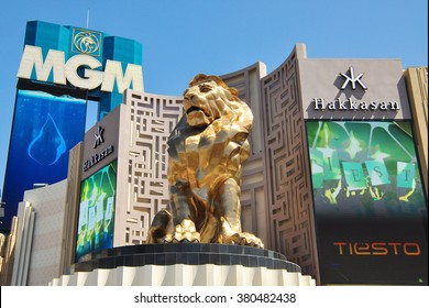 LAS VEGAS, NEVADA, USA - APRIL 16, 2014 :The MGM Grand Las Vegas is a hotel casino located on the Las Vegas Strip in Paradise, Nevada. The MGM Grand is the third largest hotel in the world .