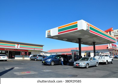 LAS VEGAS NEVADA USA - APRIL 16,2014 : In the United States, many 7-Eleven locations previously had filling stations with gasoline distributed by Citgo.