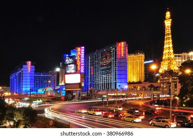 LAS VEGAS, NEVADA, USA - APRIL 16, 2014 : Bally's Las Vegas, formerly the MGM Grand Hotel and Casino, is a hotel and casino on the Las Vegas Strip in Paradise, Nevada.
