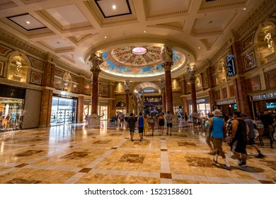 Las Vegas, Nevada, USA - Aug 17, 2019: Caesars Palace casino interior