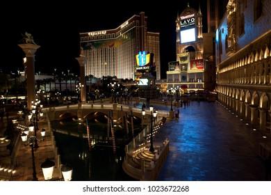 Las Vegas, Nevada / USA - August 27, 2015: Venezia hotel in Las Vegas, Nevada, USA
