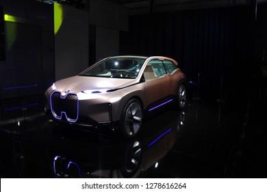 Las Vegas, Nevada / USA - Jan 8 2019: BMW iNext Concept car at CES 2019
