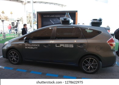 Las Vegas, Nevada / USA - Jan 8 2019:  Naver Labs car at CES 2019