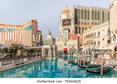 LAS VEGAS, NEVADA, USA - JANUARY 2ND, 2018: Venetian Resort Hotel Casino in 2018,  Venetian is a five-diamond luxury  resort and casino resort located on the Las Vegas Strip in Paradise, Nevada, USA