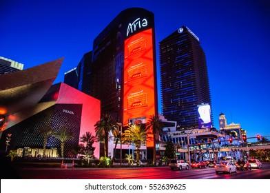 Las Vegas, Nevada, USA - June 27, 2014: Famous Aria Hotel in Las Vegas