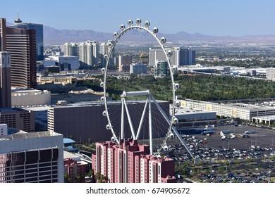Las Vegas, Nevada - USA - June 05,2017 -  Ferris Wheel Las Vegas