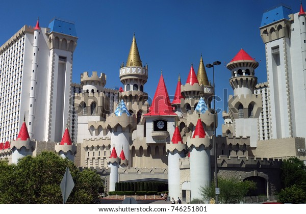 Las Vegas, Nevada, USA - June 25, 2014: the Excalibur Hotel and Casino in Las Vegas, Nevada, USA