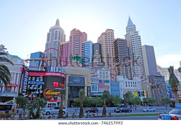 Las Vegas, Nevada, USA - June 25, 2014: New York - New York Hotel and Casino in Las Vegas, Nevada, USA