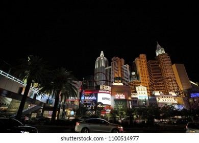 Las Vegas, Nevada, USA / May 25, 2018 :  Las Vegas is located in Nevada, a resort area renowned for  its vibrant nightlife centered on entertainment facilities such as 24-hour casin